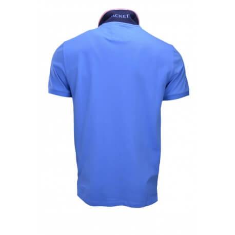 Polo Hackett basic one bleu azur pour homme