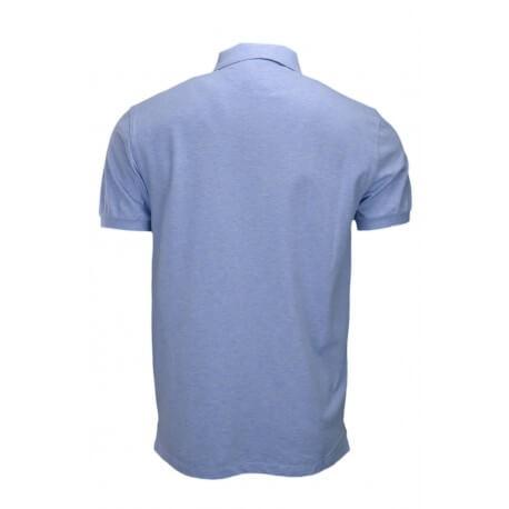 Polo Hackett basic one bleu ciel chiné pour homme