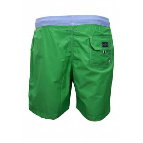Short de bain Hackett One vert et bleu pour homme