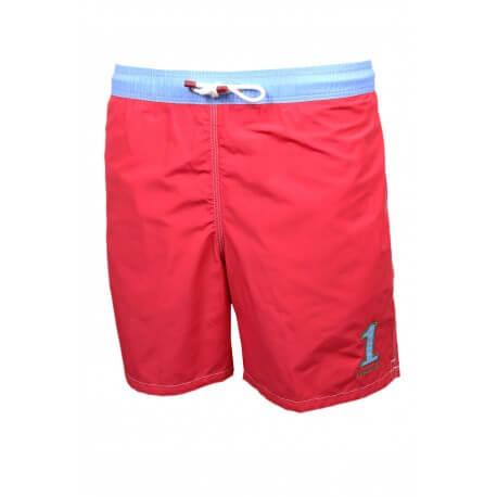 Short de bain Hackett One rouge et bleu pour homme