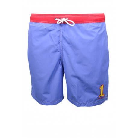 Short de bain Hackett One bleu et rouge pour homme
