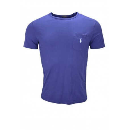 T-shirt col rond Ralph Lauren bleu marine pour homme