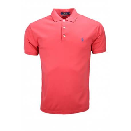 Polo basique Ralph Lauren en jersey rouge pour homme