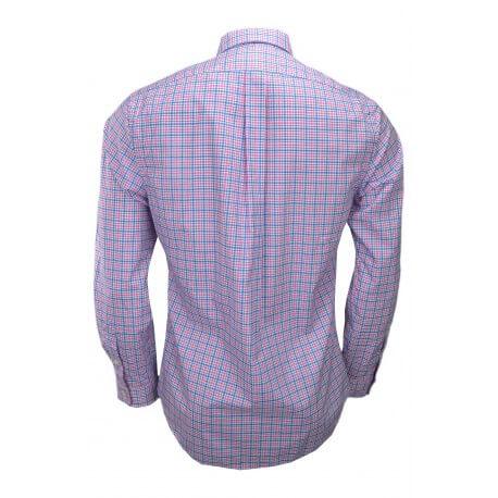 Chemise Ralph Lauren slim fit à carreaux rose et bleu pour homme