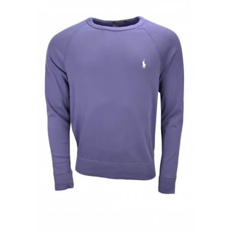 Sweat en coton éponge Ralph Lauren bleu marine pour homme