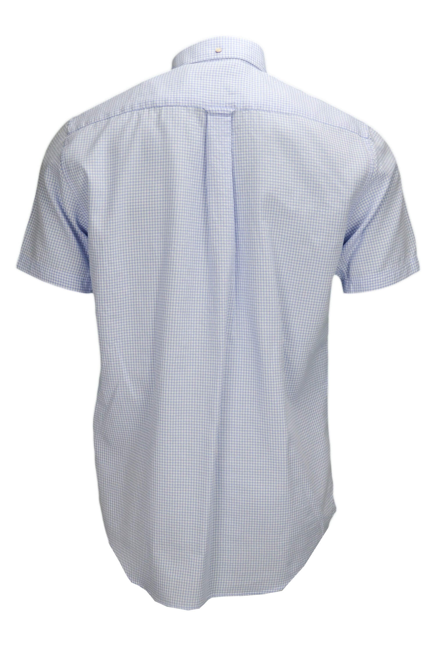 chemise manches courtes gant tech prep carreaux bleu pour homme. Black Bedroom Furniture Sets. Home Design Ideas