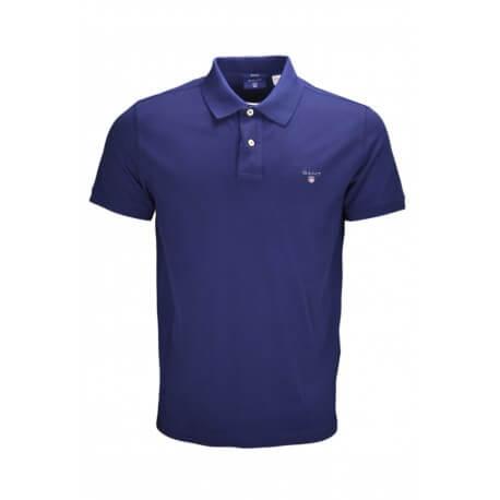 Polo basique Gant en piqué bleu marine pour homme