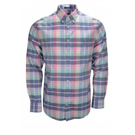 Chemise Gant Madras multicolore pour homme