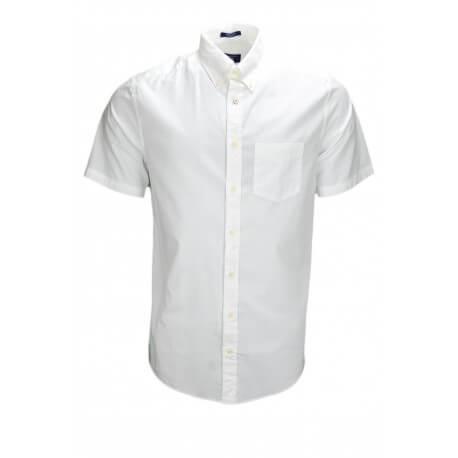 chemise manches courtes gant blanche pour homme toujours. Black Bedroom Furniture Sets. Home Design Ideas