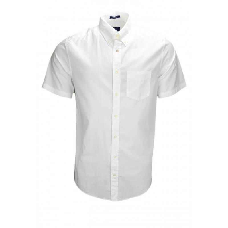chemise manches courtes gant blanche pour homme toujours au meil. Black Bedroom Furniture Sets. Home Design Ideas