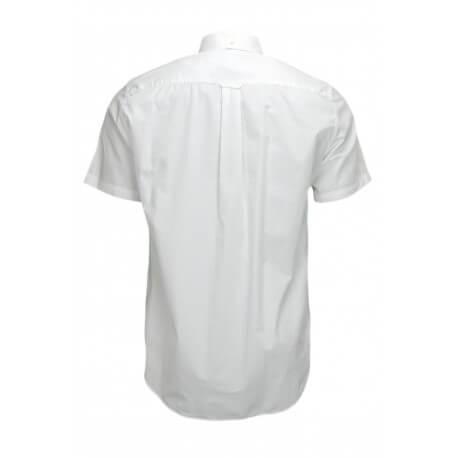Chemise manches courtes Gant blanche pour homme