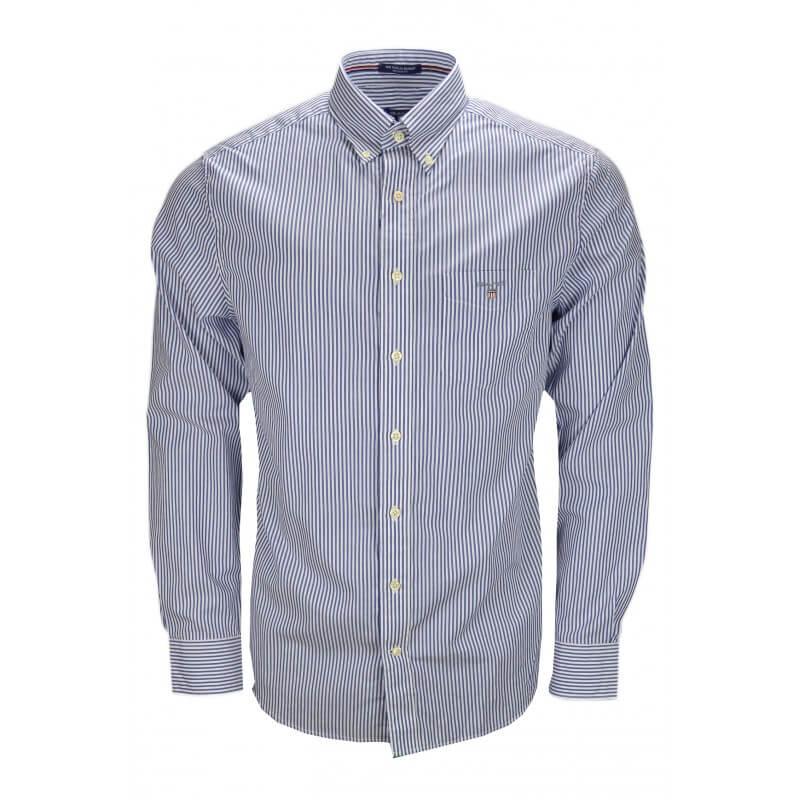 chemise gant ray e bleu et blanche pour homme toujours. Black Bedroom Furniture Sets. Home Design Ideas