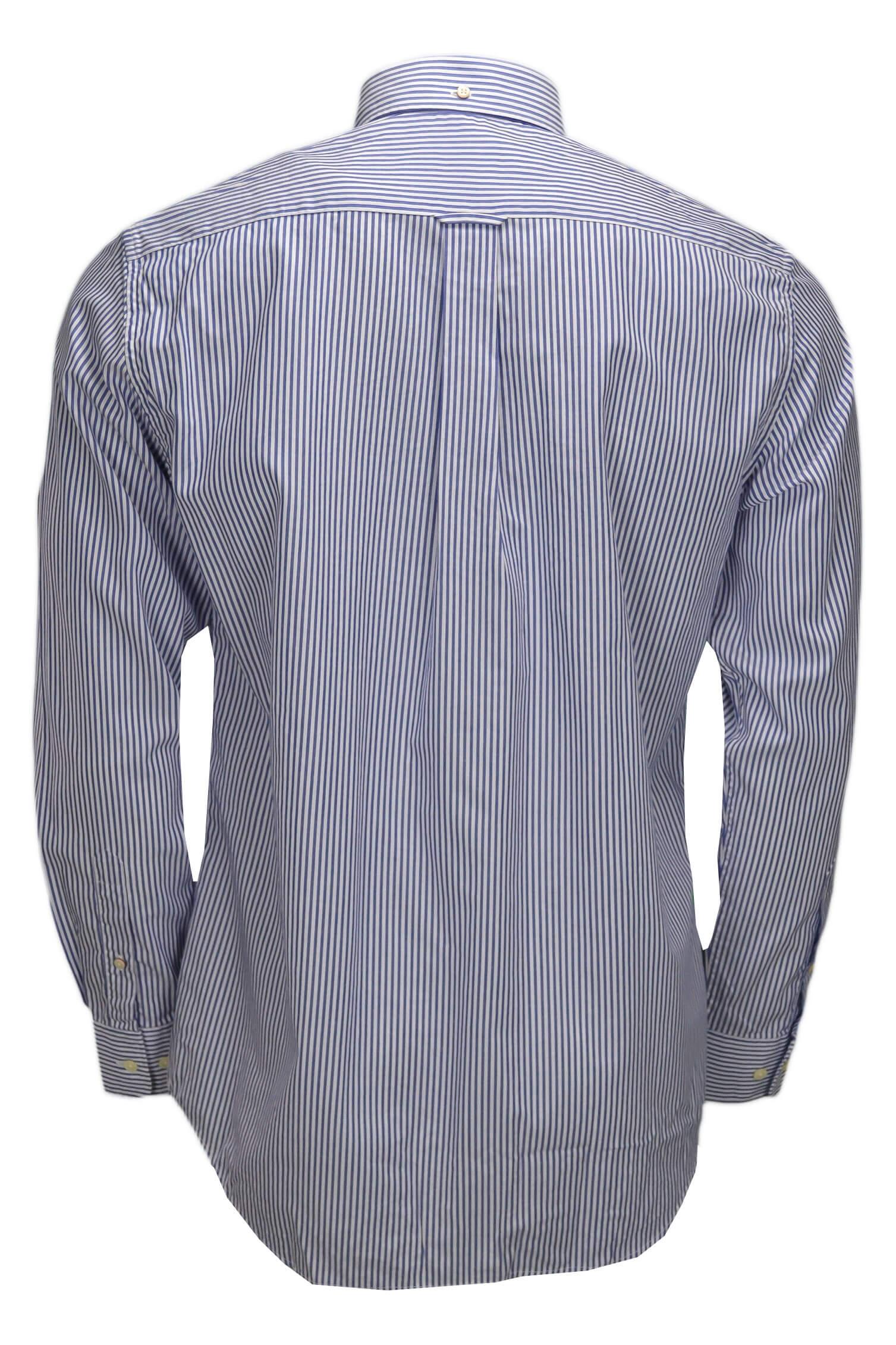 chemise gant ray e bleu et blanche pour homme toujours au meille. Black Bedroom Furniture Sets. Home Design Ideas