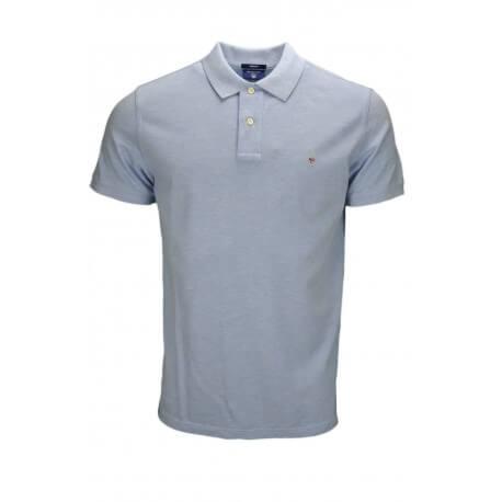 Polo Gant bleu givré pour homme