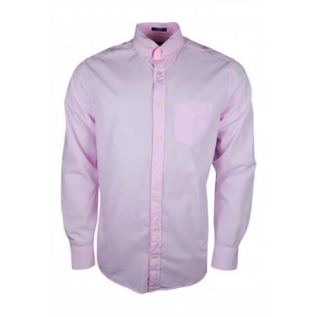 Chemise Gant poplin rose pâle pour homme