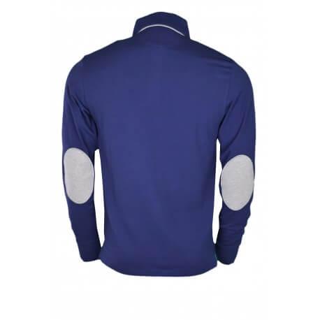 Polo manches longues Gant en jersey bleu marine pour homme
