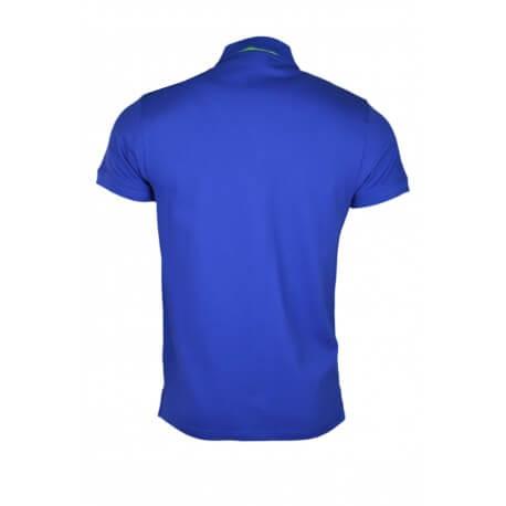 Polo Gant contrast bleu pour homme