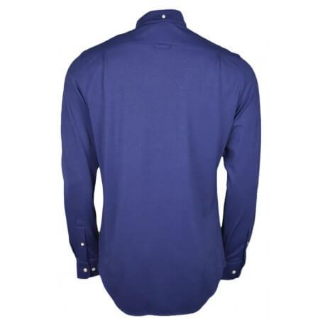 Chemises Gant en coton piqué bleu marine pour homme