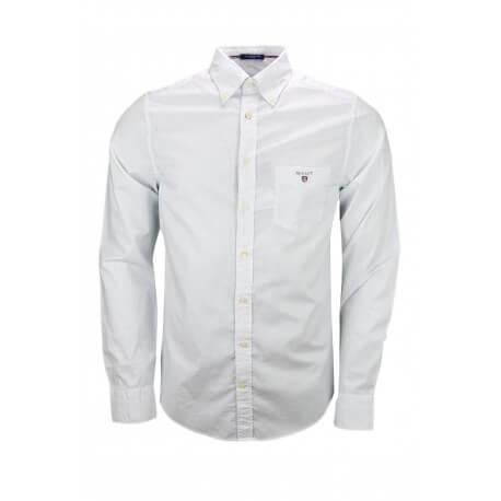 Chemise Gant à pois blanche et bleu pour homme