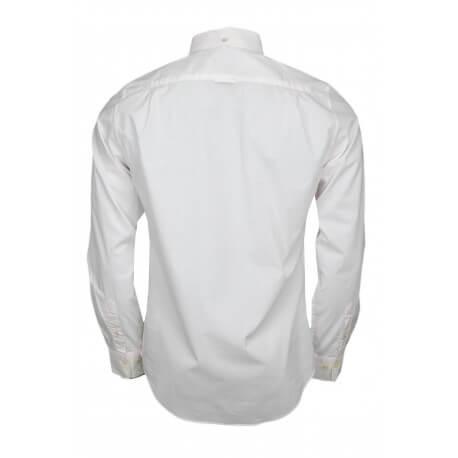 Chemise Gant à pois blanche et rose pour homme