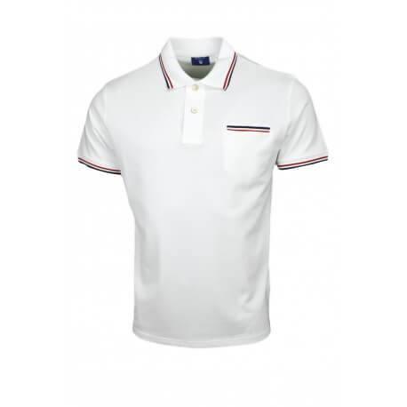 Polo Gant Tipping blanc pour homme
