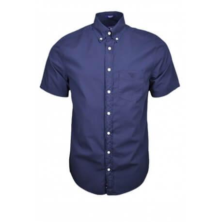 Chemise manches courtes Gant bleu marine pour homme