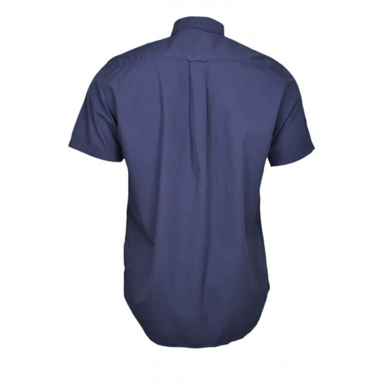 chemise manches courtes gant bleu marine pour homme toujours au. Black Bedroom Furniture Sets. Home Design Ideas