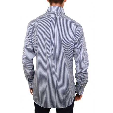 Chemise Ralph Lauren rayée bleu et blanche pour homme