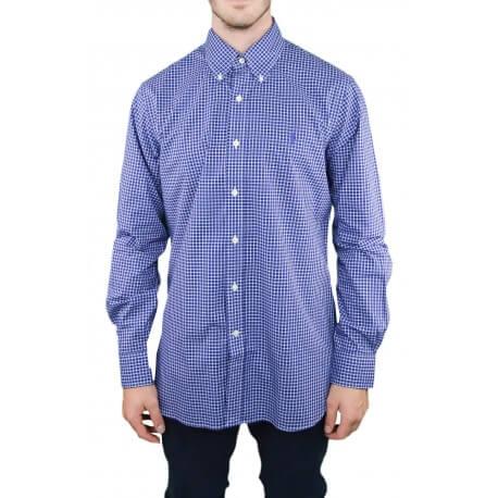 Chemise Ralph Lauren à carreaux bleu marine pour homme