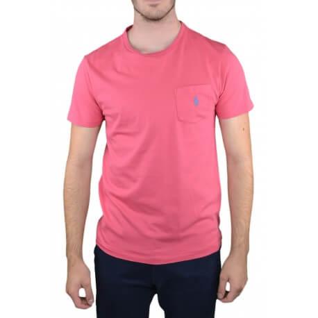 T-shirt col rond Ralph Lauren rouge pour homme