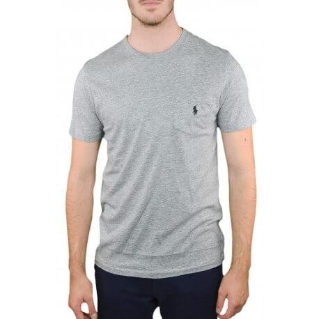 T-shirt col rond Ralph Lauren gris pour homme