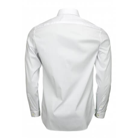 Chemise Lacoste popeline slim fit blanche pour homme