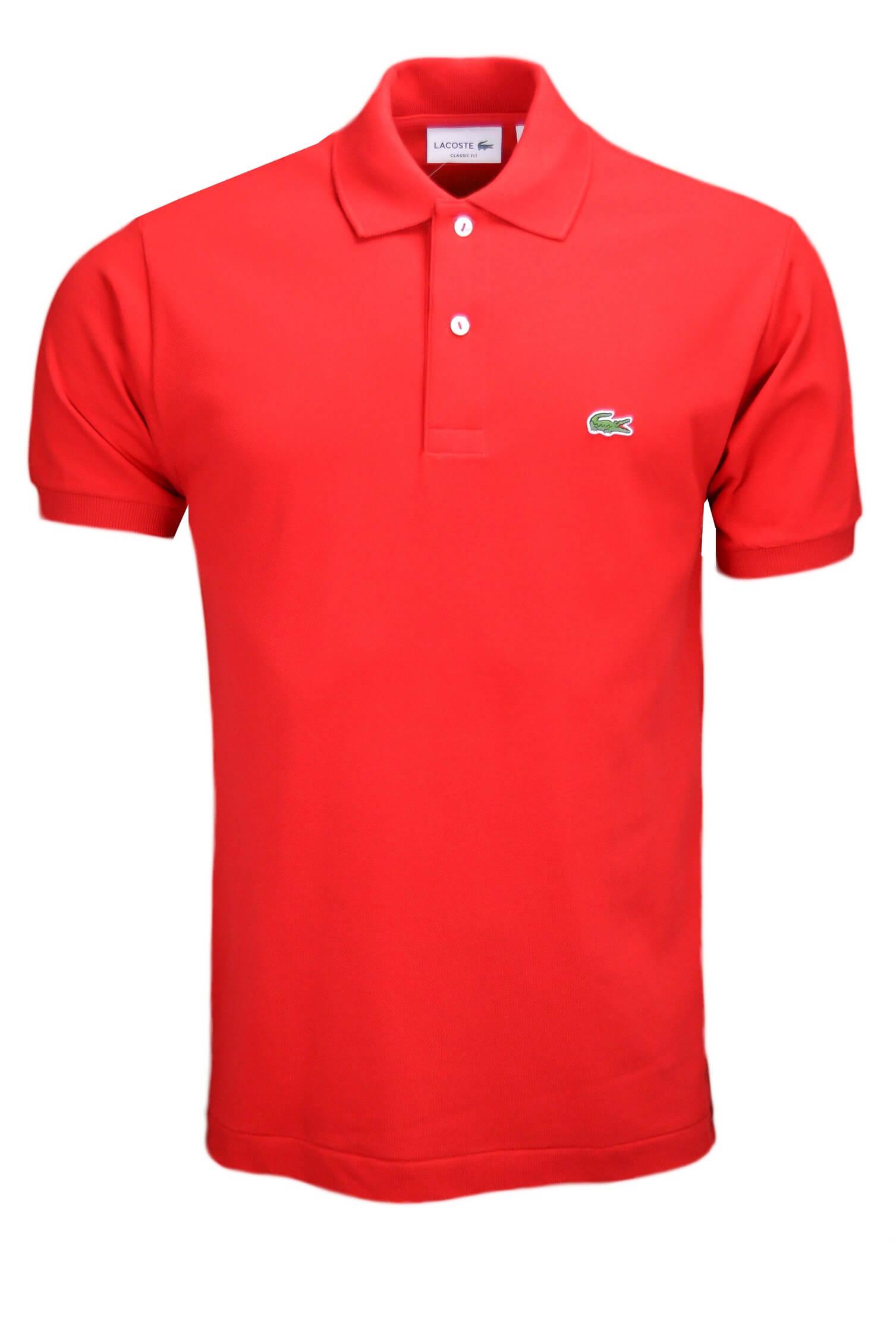 722e1a5140 Polo Lacoste L1212 classic fit rouge pour homme - Toujours au meil...