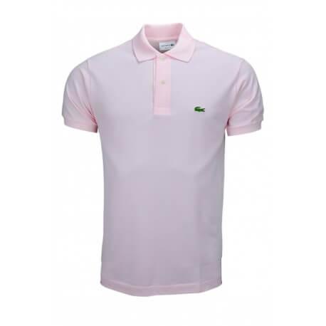 Polo Lacoste L1212 classic fit rose pâle pour homme
