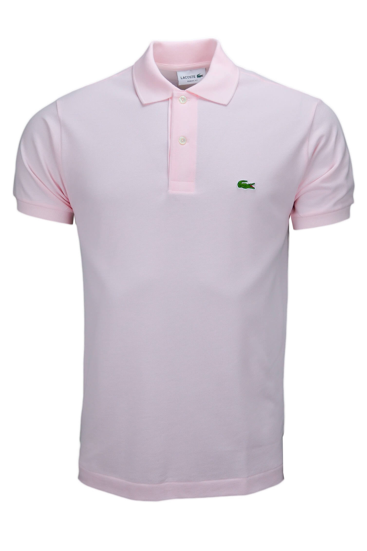 Polo Lacoste L1212 classic fit rose pâle