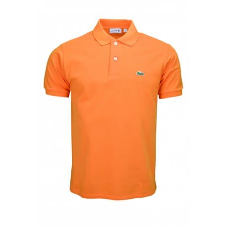 Polo Lacoste L1212 classic fit orange pour homme