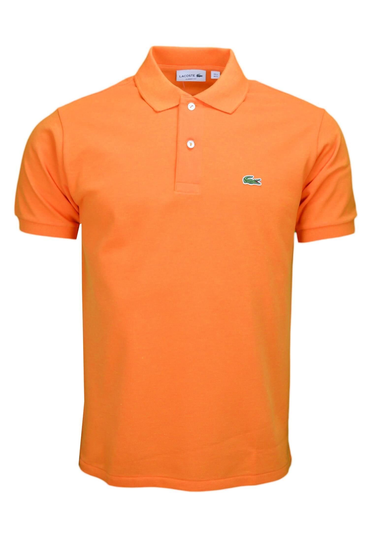 5f1fe2f689 Polo Lacoste L1212 classic fit orange pour homme - Toujours au meil...