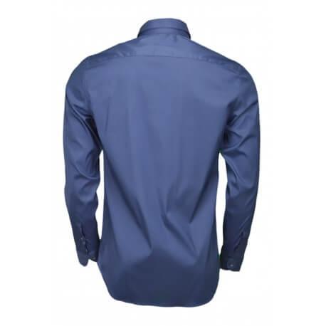 Chemise Lacoste popeline slim fit bleu marine pour homme