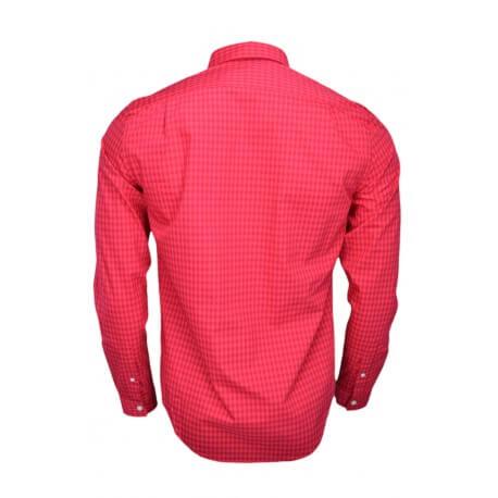 Chemise Lacoste à carreaux régular fit rouge pour homme