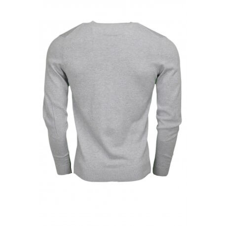 Pull col V Lacoste gris pour homme