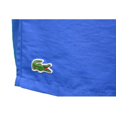 Short de bain Lacoste en taffetas bleu pour homme