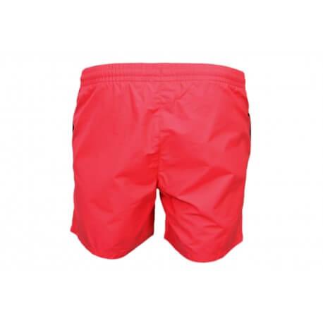 Short de bain Lacoste en taffetas rouge pour homme