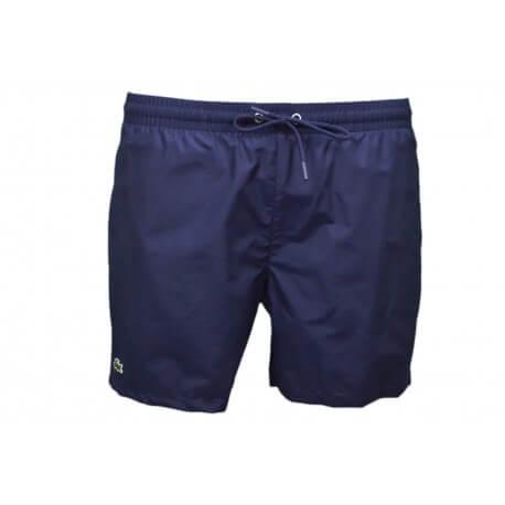 Short de bain Lacoste en taffetas bleu marine pour homme