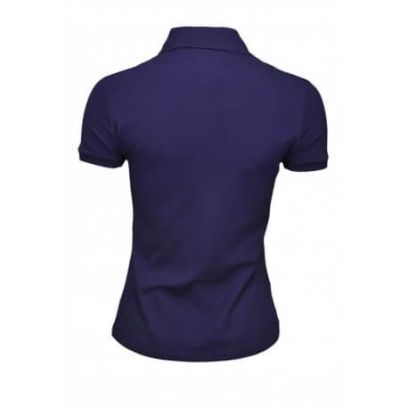 Polo Lacoste basique 5 boutons bleu marine pour femme