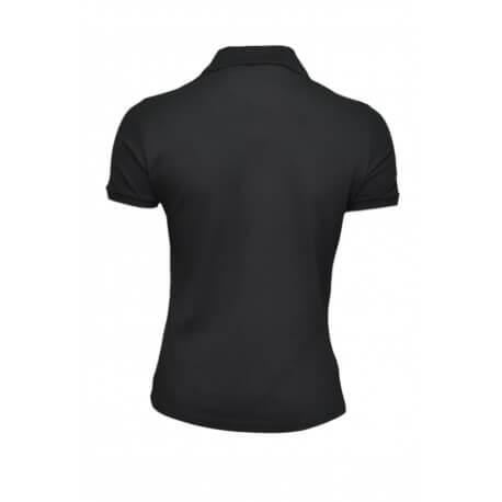 Polo Lacoste basique 5 boutons noir pour femme