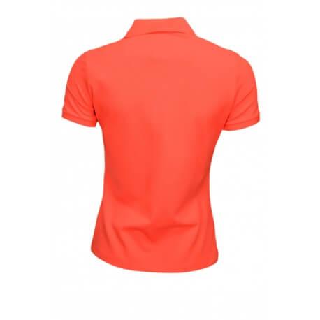 Polo Lacoste basique 5 boutons rouge pour femme