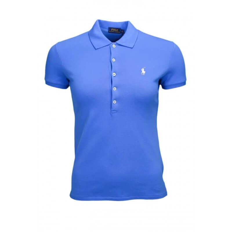 Polo Ralph Lauren Julie 5 boutons bleu pour femme - Toujours au me...