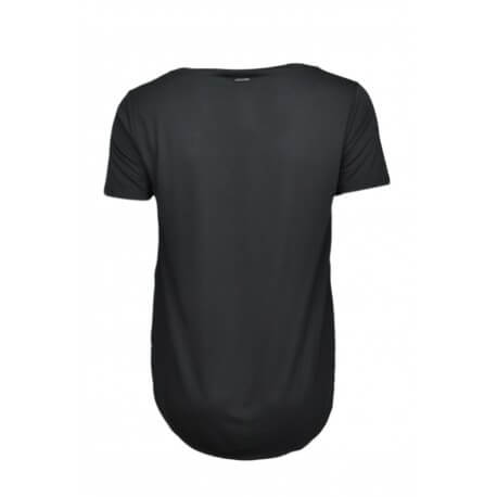 T-shirt col rond dégagé Ralph Lauren noir pour femme