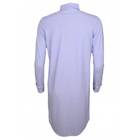 Robe-chemise polo Ralph Lauren en coton piqué bleu pour femme
