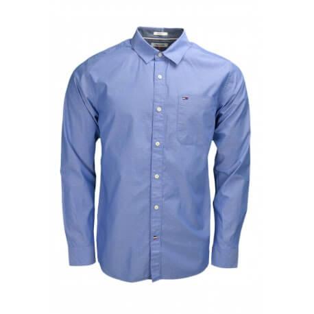 Chemise Tommy Hilfiger Dénim bleue à motif pour homme